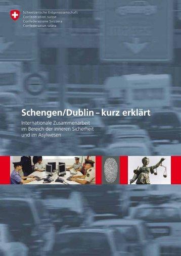 """Broschüre """"Schengen/Dublin - kurz erklärt"""" - EJPD - admin.ch"""