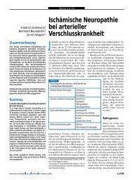 Ischämische Neuropathie bei arterieller Verschlusskrankheit