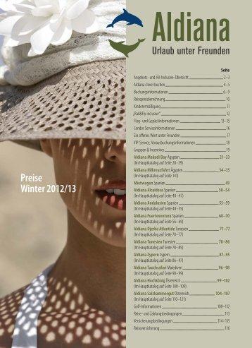 Preise Winter2012/13 - Aldiana