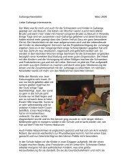 Gahanga-Newsletter März 2008 Liebe Gahanga-Interessierte, Der ...