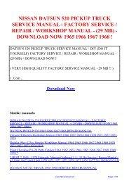 1988 NISSAN D21 TRUCK PICK-UP SUPPLEMENT IV WORKSHOP MANUAL WERKSTATTHANDBUCH