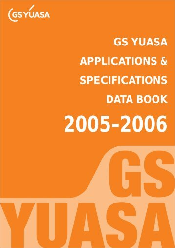gs yuasa applications & specifications data book - MICRONIX