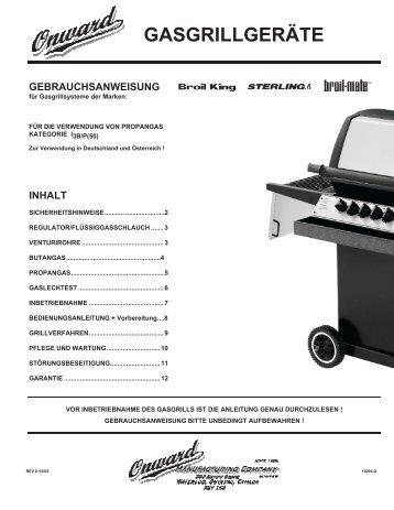 Allgemeine Gebrauchsanweisung Broil King Grills - Gardelino