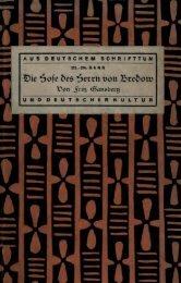 Die Hose ('.) des Herrn von Bredow, Vaterländischer Roman von ...