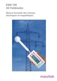 3D H/E fieldmeter ESM-100 - Maschek Elektronik