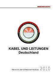 KABEL UND LEITUNGEN Deutschland - Meinhart Kabel ...