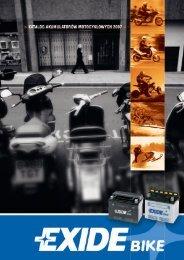 Katalog Exide - motocykle - Centra