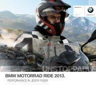 BMW Motorrad Ride 2013 - Katalog (PDF, 10750 kb