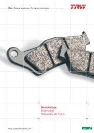Bremsbel/äge TRW MCB 629 f/ür APRILIA 125 Classic 96-01 vorne