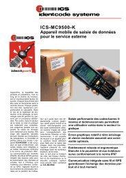 ICS - MC9500-K Appareil mobile de saisie de données pour le service