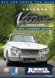 Triumph Vitesse Parts and Accessories Catalogue - Rimmer Brothers