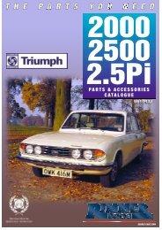 Rimmer Bros - Triumph 2000/2500/2.5PI - Rimmer Brothers