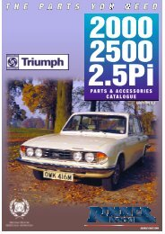 Rimmer Bros - Triumph 2000/2500/2.5PI - Rimmer Brothers