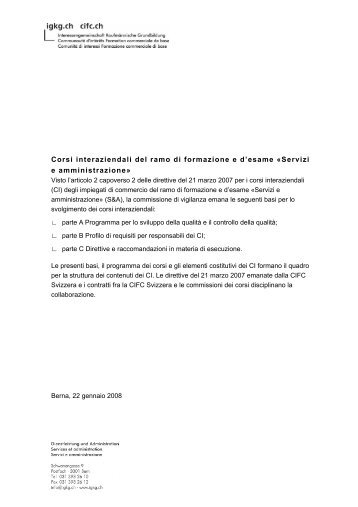 Basi per lo svolgimento dei corsi interaziendali pdf - igkg