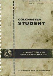 Colchester Student Lathe Manual - Igor Chudov