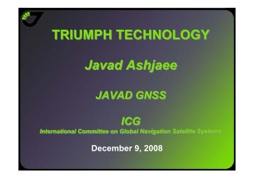 TRIUMPH TECHNOLOGY Javad Ashjaee