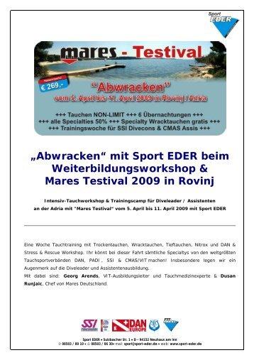 Flyer Mares Testival - Tauchshop