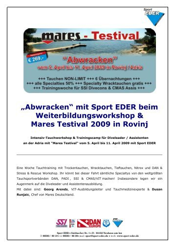 mit Sport EDER beim Weiterbildungsworkshop - Tauchshop