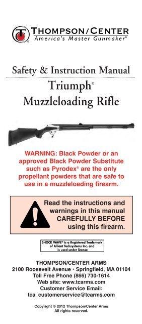 G2 Pistol & Rifle Manual 02-30-2012 - Thompson Center Arms