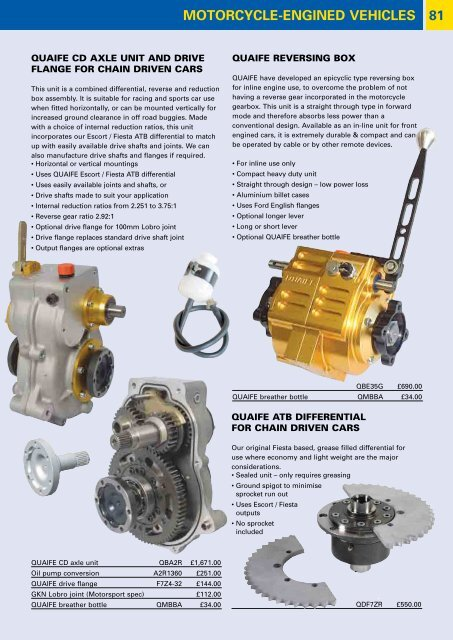 Quaife Sequential Gearbox B Series