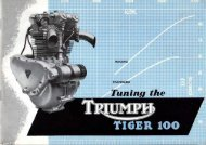 Triumph Racing Kit Tiger 100 - Fedrotriple