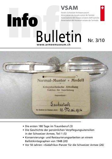 Bulletin Nr. 3/10 - Verein Schweizer Armeemuseum