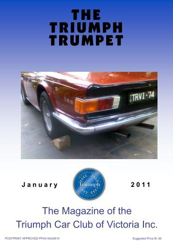Jan Trumpet - Triumph Car Club of Victoria