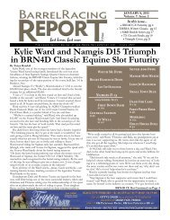 Kylie Ward and namgis D15 Triumph in Brn4D - Barrel Racing Report