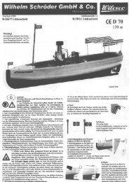 Gebrauchsanweisung Wilesco Dampfschiff African Queen D70
