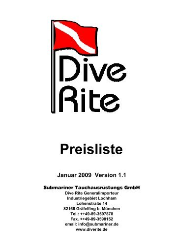 herunterladen - Dive Rite Deutschland - Technisches Tauchen