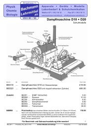 Dampfmaschine D18 + D20 - Bachmann Lehrmittel AG