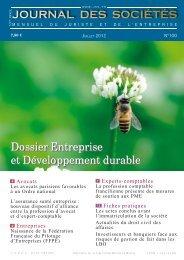 Dossier Entreprise et Développement durable