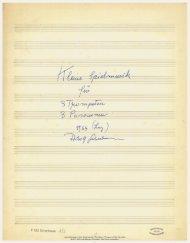 Adolf Scherbaum, Kleine Spielmusik für 3 Trompeten, 3 Posaunen ...