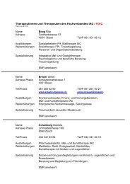 Therapeutinnen und Therapeuten des Fachverbandes IAC / FIAC