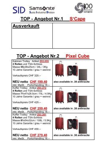 Samsonite SID Swiss Industrial Division Reiseartikel, Koffer, Trolley