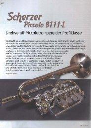 Sonic Testbericht Scherzer 8111-L - Reisser Musik