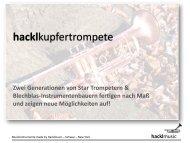 Kupfertrompete ‐ H&H 09 Kupfer Classic - Hacklmusic