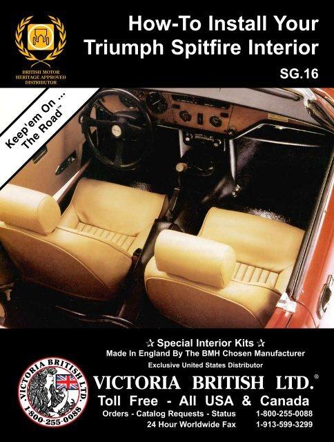 How To Install Your Triumph Spitfire Interior Victoria British