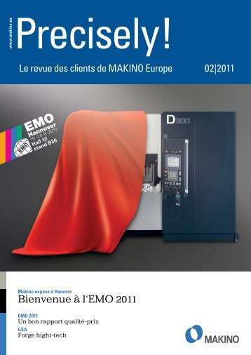 Precisely! (PDF 1,4 MB) - Makino Europe