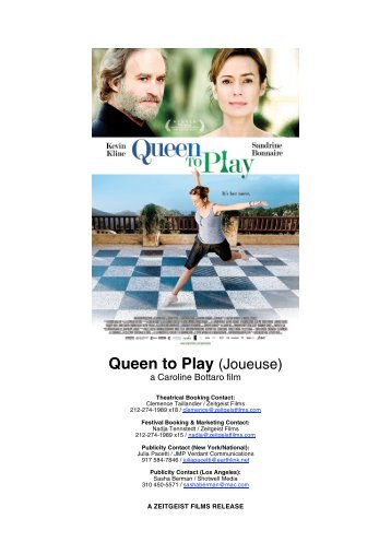 Queen to Play (Joueuse) - Zeitgeist Films.