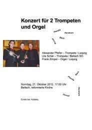 Konzert für 2 Trompeten und Orgel - Reformierten Kirchgemeinde ...