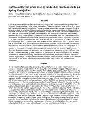 Ophthalmologiske fund i linse og fundus hos varmblodsheste på ...