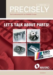 LET´S TALK ABOUT PARTS! - Makino Europe GmbH