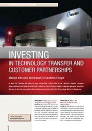 INVESTING - Makino Europe GmbH
