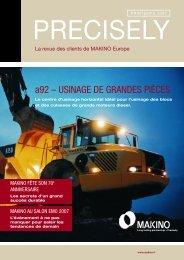 a92 – USINAGE DE GRANDES PIÈCES  - Makino Europe