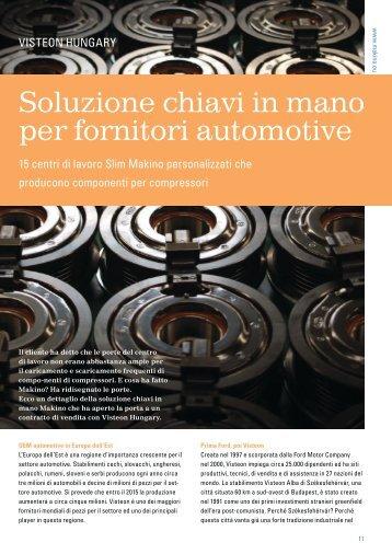 Soluzione chiavi in mano per fornitori automotive - Makino Europe ...