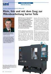 Klein, fein und mit dem Zeug zur Mikrobearbeitung ... - Makino Europe