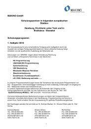 1. Halbjahr2010 Schulung_DT_JN - Makino Europe GmbH