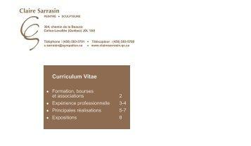 Curriculum Vitae - Claire Sarrasin