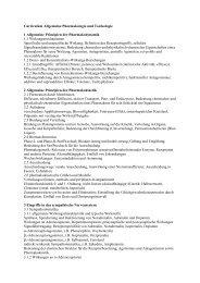 Curriculum Allgemeine Pharmakologie und Toxikologie 1 ...